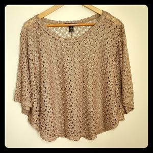 Style & Co/ Poncho Top Gold / Size XL